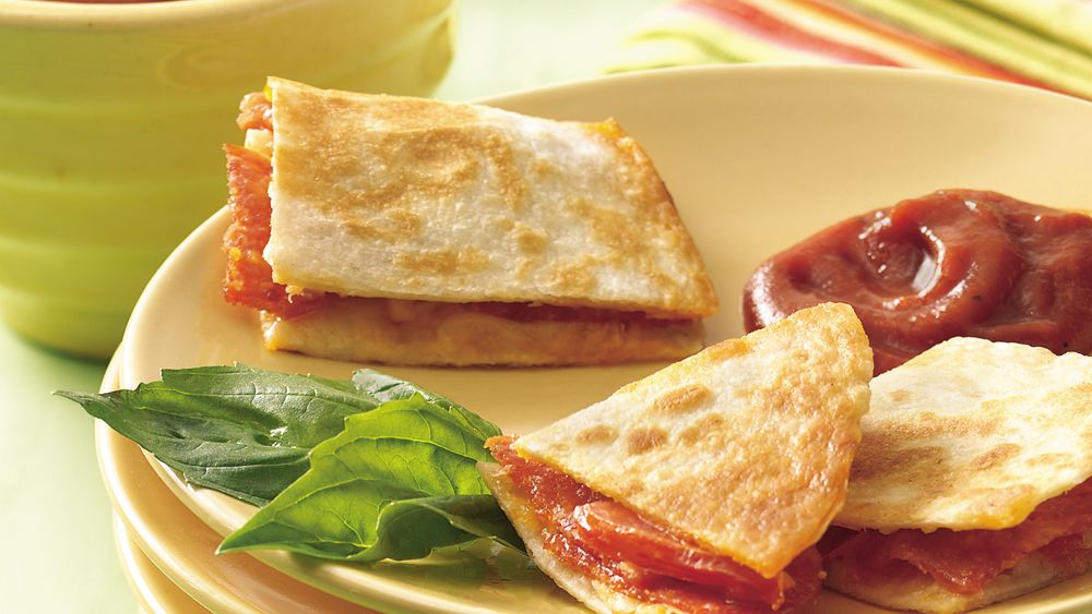 Cheesy Pizza Quesadilla Bites
