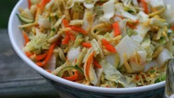 Sesame Soy Napa Cabbage Slaw