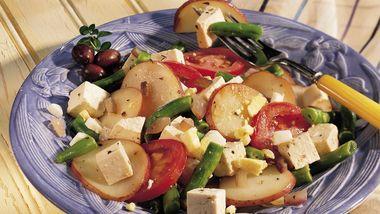 Niçoise Tofu Skillet Supper