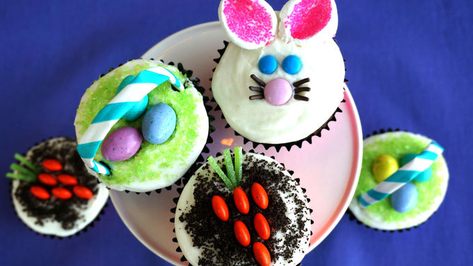 Chocolate Easter Cupcakes with Buttercream Frosting