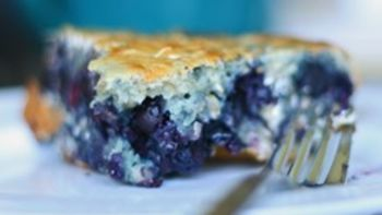Blueberry Oatmeal Cake