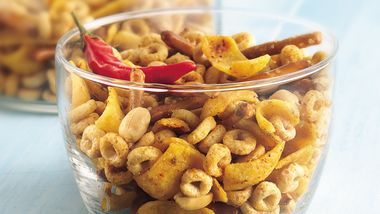 Chili and Garlic Snack Mix