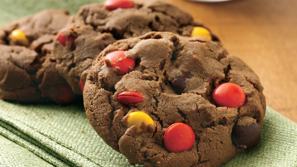 Chocolate-Peanut Butter Candy Cookies