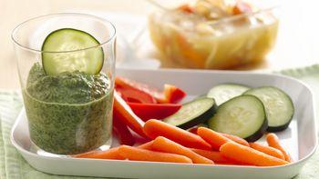 Lemon Peel Spinach Dip with Vegetable Dippers