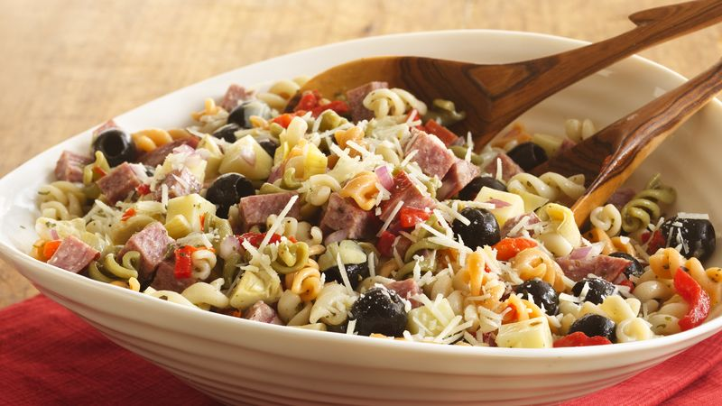 Antipasto Curly Pasta Salad