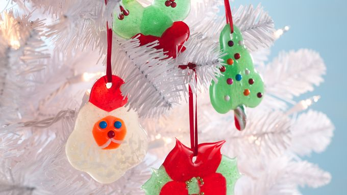 Poinsettia Candy Ornaments