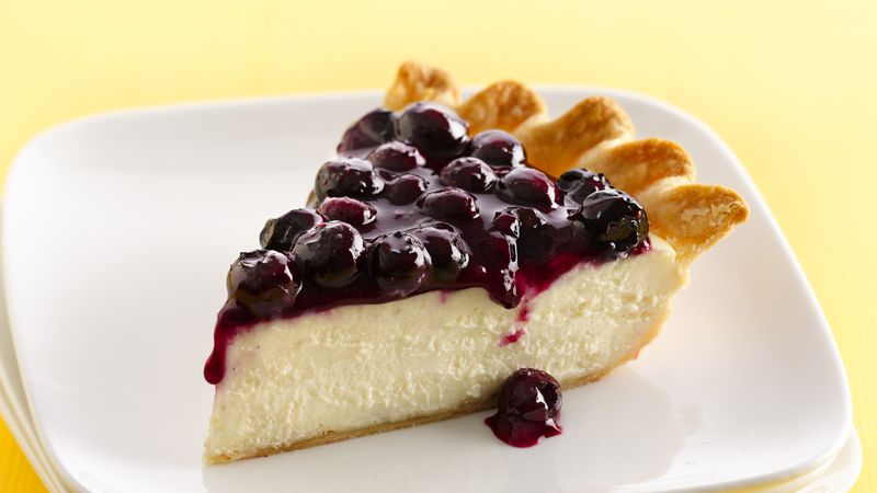 Fresh Blueberry Cheesecake Pie recipe from Betty Crocker