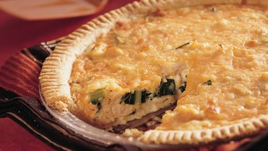 Collard Greens and Turkey Quiche