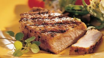 Pork Chops with Herbed Garlic Pepper Rub