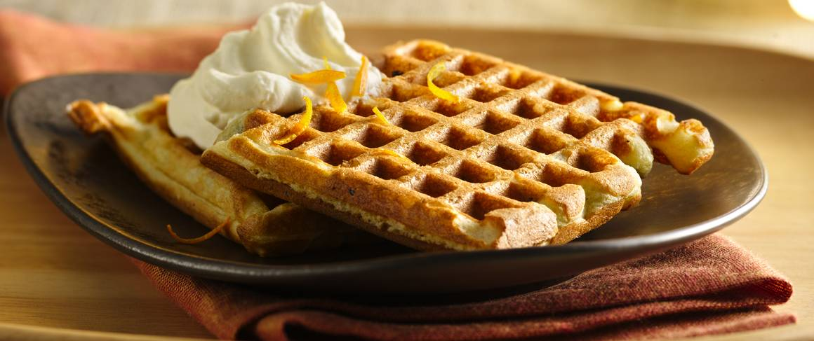 Chocolate Chip Waffles With Orange Cream Recipe From Betty