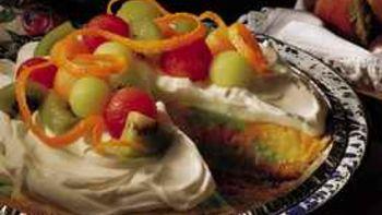 Rainbow Sherbet Pie