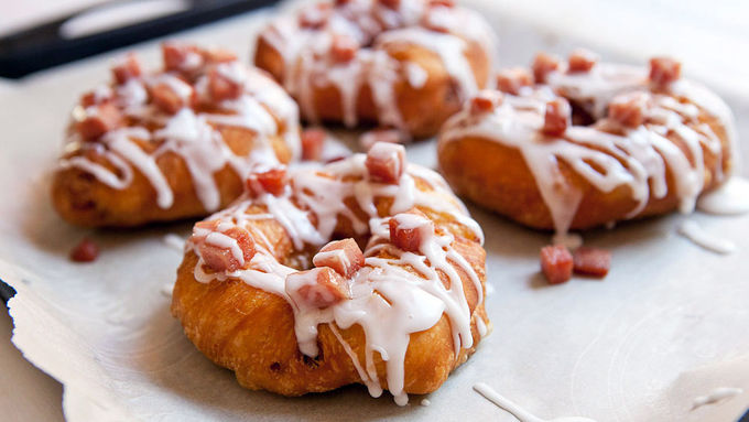 Spam-Filled Fried Donuts