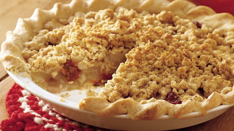 Pear Cherry Streusel Pie