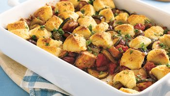 Crescent-Topped Ratatouille Casserole