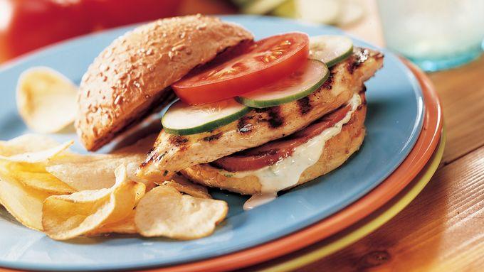 Grilled Ranch Chicken Fillet Sandwiches