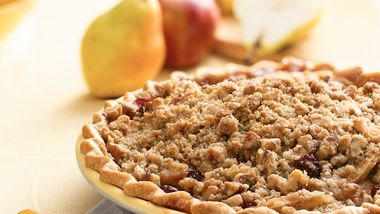 Apple, Pear and Cranberry Pie