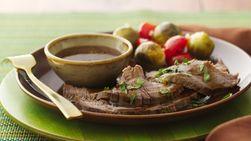 Bistec  estilo Flank con Salsa de miel y Mostaza