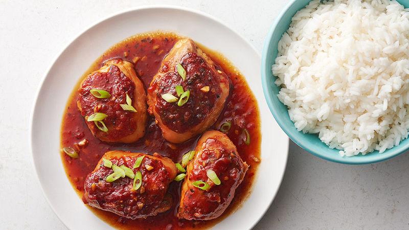 Slow-Cooker Spicy Honey Garlic Chicken