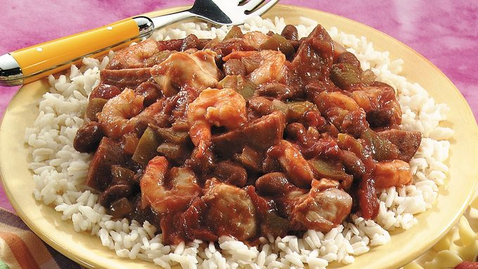 Slow-Cooked Jambalaya-Style Red Beans and Rice recipe - from ...