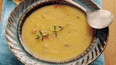 Slow-Cooker Golden Pea and Ham Soup