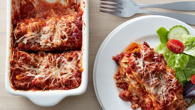 Italian Sausage Lasagna (Cooking for 2)