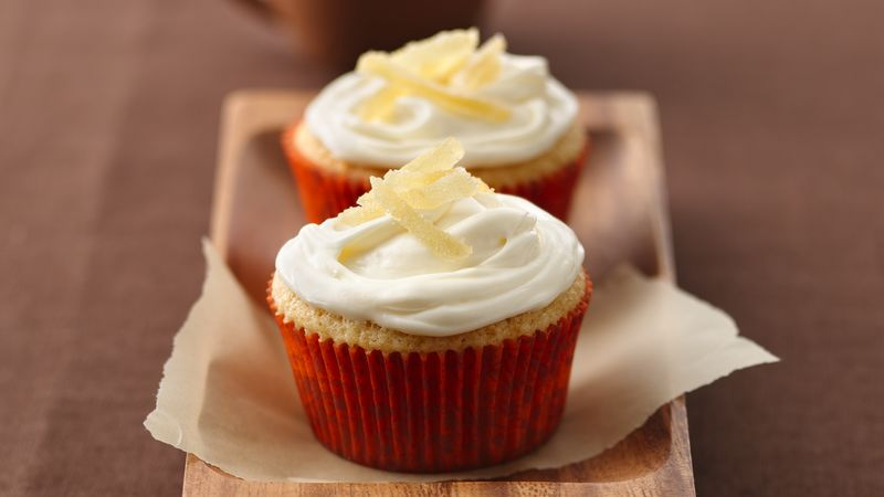 Ginger and Peach Cupcakes
