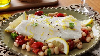 Tuscan Style Tilapia and Cannellini Beans