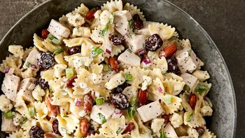 Turkey, Cherry and Almond Pasta Salad