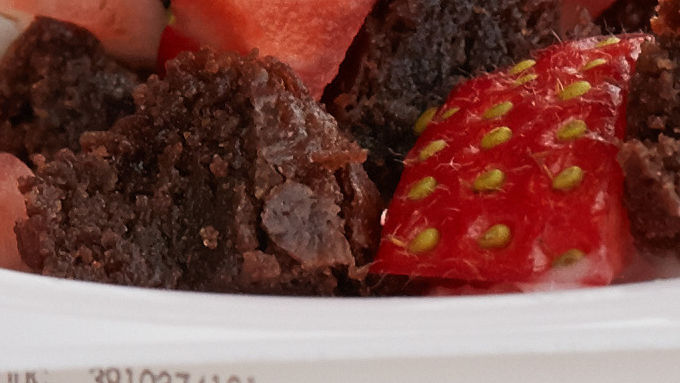 Double Berry Brownie Yogurt Cup