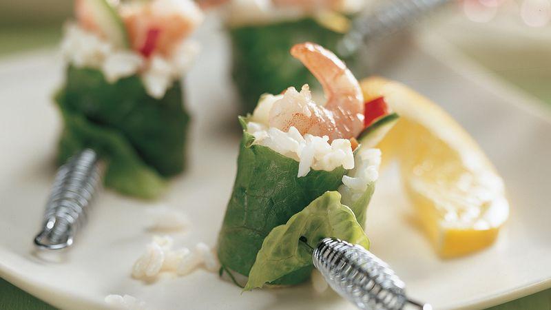 Lemon Shrimp California Rolls