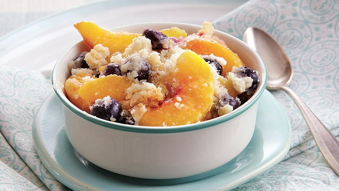 Peach Berry Lemon Crumble