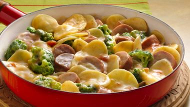 Potato, Broccoli and Sausage Skillet