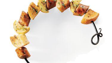 Sausage and Garlic Bread Kabobs