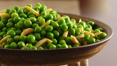 Peas with Butter-Toasted Almonds