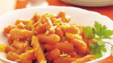 Sencillas zanahorias glaseadas con naranja