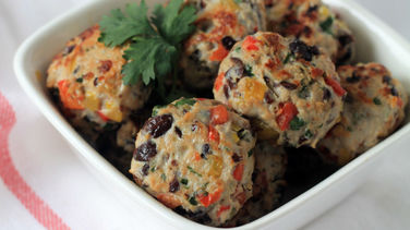 Black Bean and Turkey Meatballs
