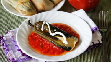 Stuffed Chiles with Corn Tamales