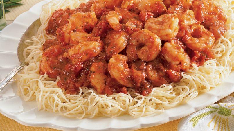 Shrimp Marinara With Angel Hair Pasta
