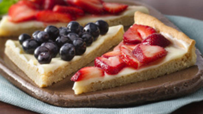 Berries and Cream Dessert Triangles