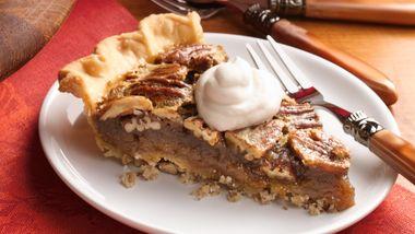 Bourbon Pecan Pie with Pecan Crust