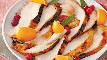 Turkey Breast with Cranberry-Orange Glaze