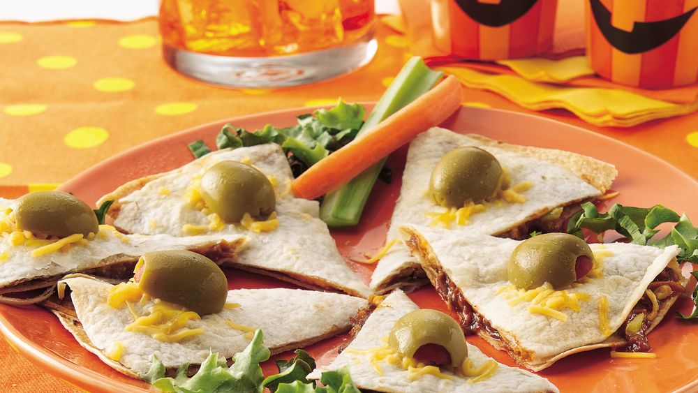 Wart-Topped Quesadilla Wedges