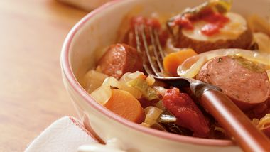 Slow-Cooker Harvest Sausage and Vegetable Casserole