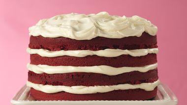 Red Velvet Torte with White Truffle Frosting
