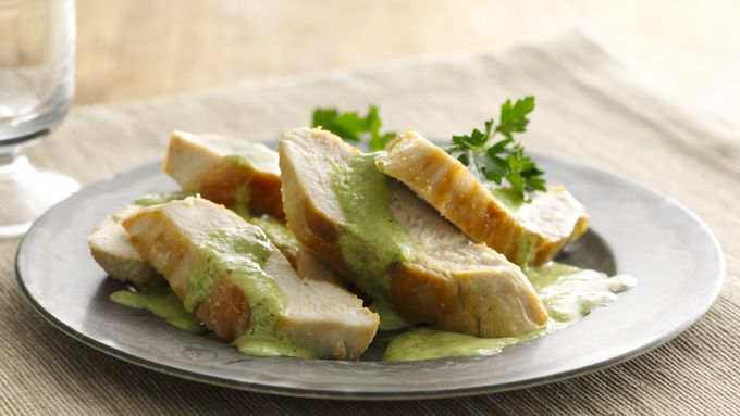 Gluten-Free Chicken with Creamy Chimichurri