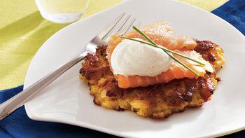 Potato Cakes with Smoked Salmon