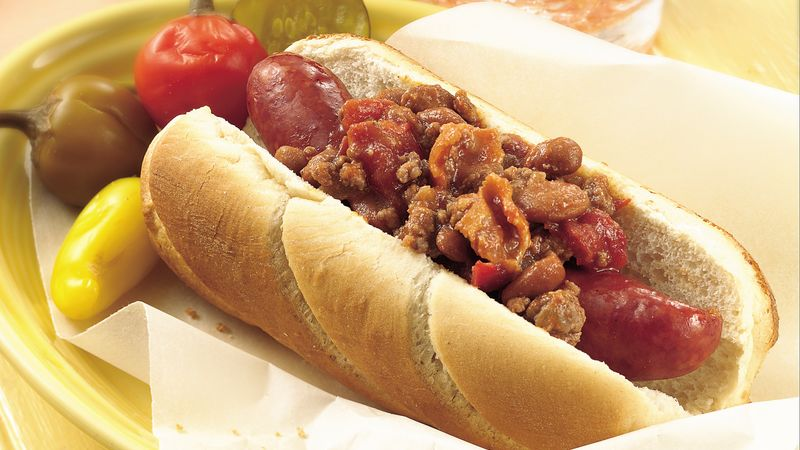 Slow-Cooker Roasted Tomato Coney Dog Topping