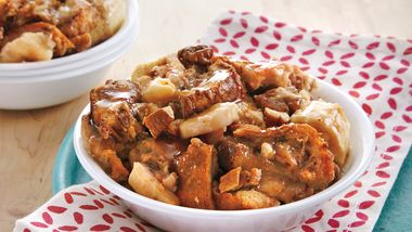 Cinnamon-Banana Bread Pudding