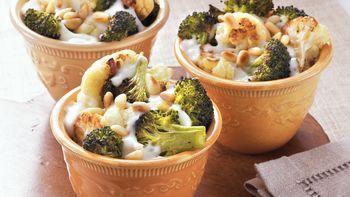 Cheesy Cauliflower and Broccoli