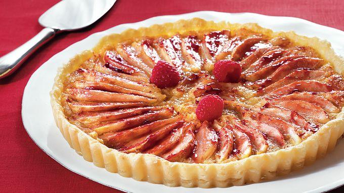 Raspberry-Almond-Pear Tart